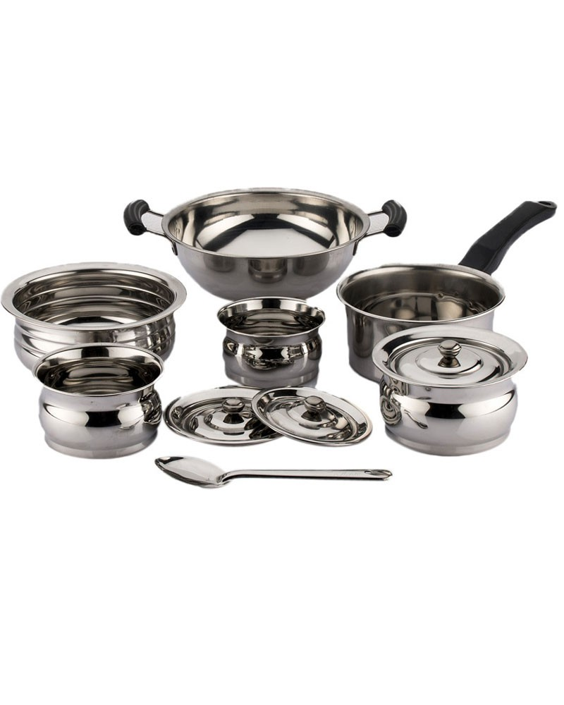 79cbcdedaf8 BUY-Mahavir Induction Base 10Pc SS Cookware Set-3KTST3BBPLHDS-At ...